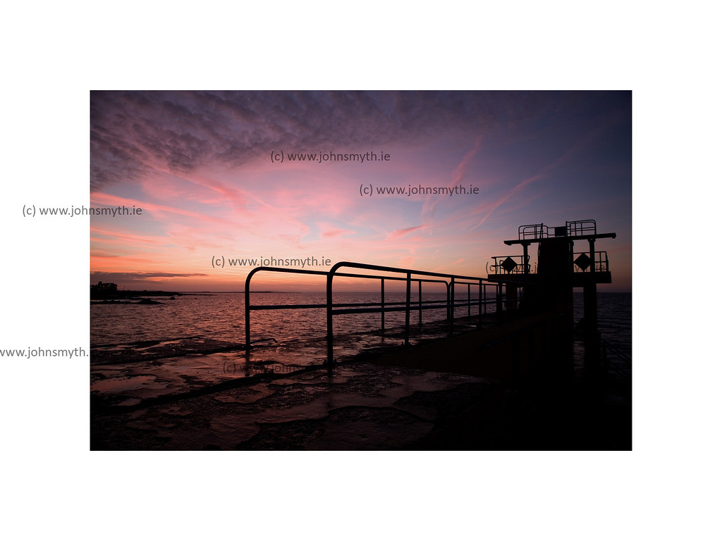Just before sunrise at the Blackrock diving board in Salthill, Co. Galway.