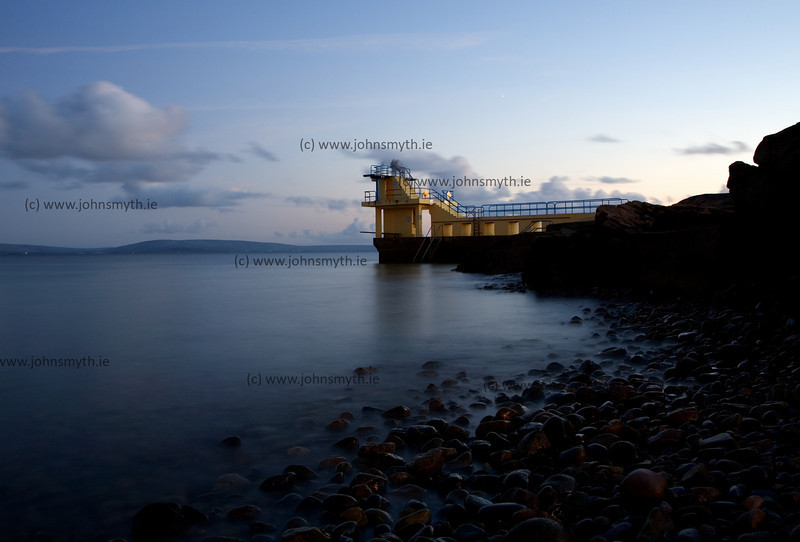 Just after sundown at  Blackrock diving board in Salthill, Galway