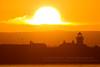 Sunrise over Mutton Island