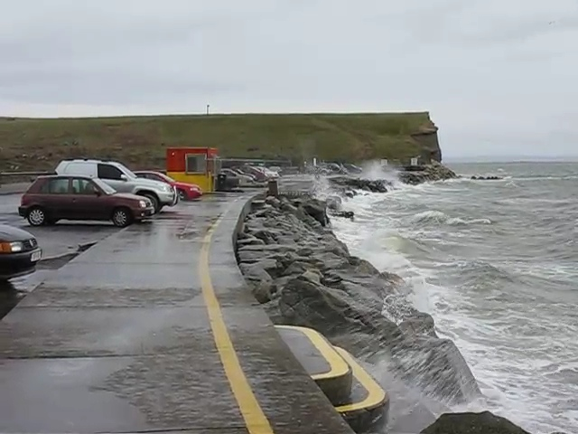 Footage of rough weather at Silver Strand in Galway on March 09 2008 at 5pm,  about an hour before high tide.