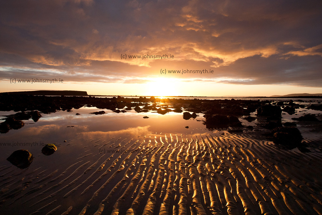 Sunrise at the beach at Silver Strand in Galway