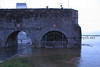 Flood water lapping around the Spanish Arch and the Blind Arch (the one with the gate) on the morning of March 10 2008.