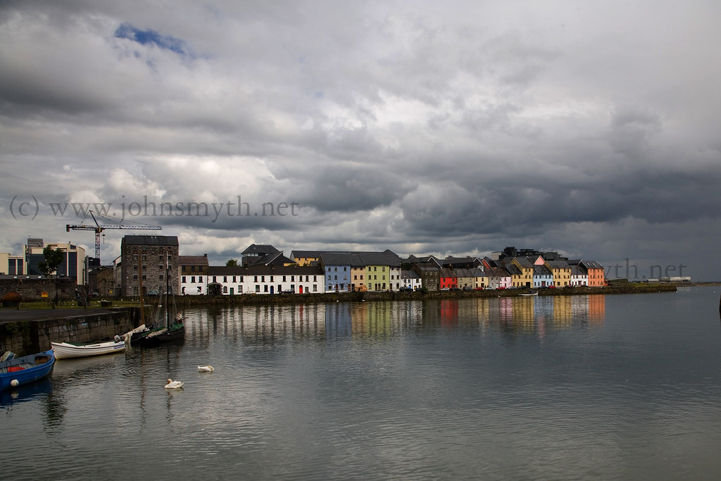 A view of the Long Walk (behind the Spanish Arch) seen from the claddagh.