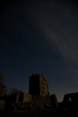 Aughnanure Castle, near Oughterard, Co. Galway, by moonlight