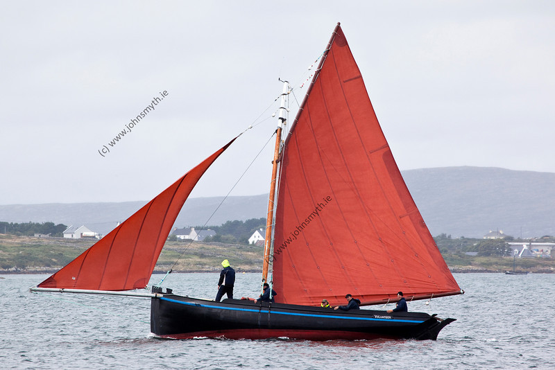 Scene from the 2009 Feile an Doilin boat festival in An Cheathrú Rua (Carraroe) in Galway, Ireland.