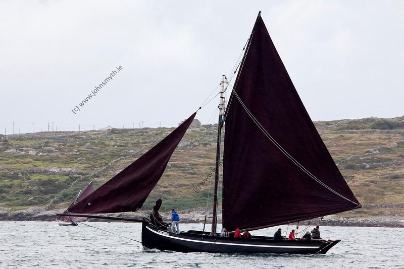 Scene from the 2009 Feile an Doilin boat festival in An Cheathrú Rua (Carraroe) in Galway, Ireland.