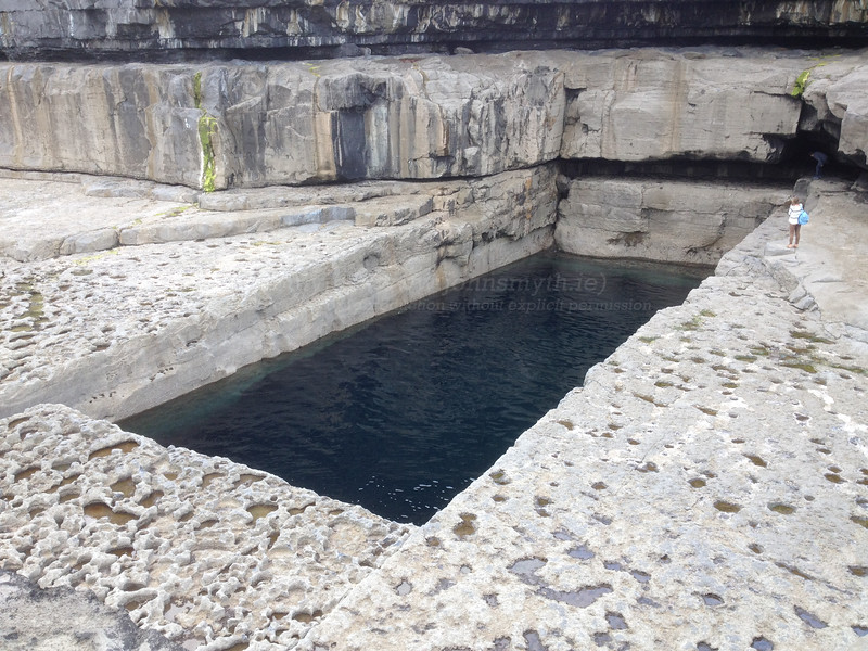 A perfectly rectangular (and perfectly natural) pool eroded from the limestone cliffs on Inis Mor (the largest of the Aran Islands) in Galway Bay.