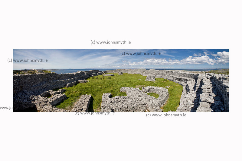 Dun Chonchuir fortress on Inish Meain (of the Aran Islands).