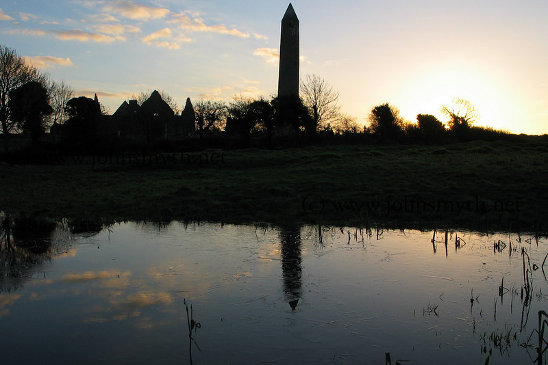Part of the Kilmacduagh monastic site (including Round Tower) in Galway, a few miles from Gort.