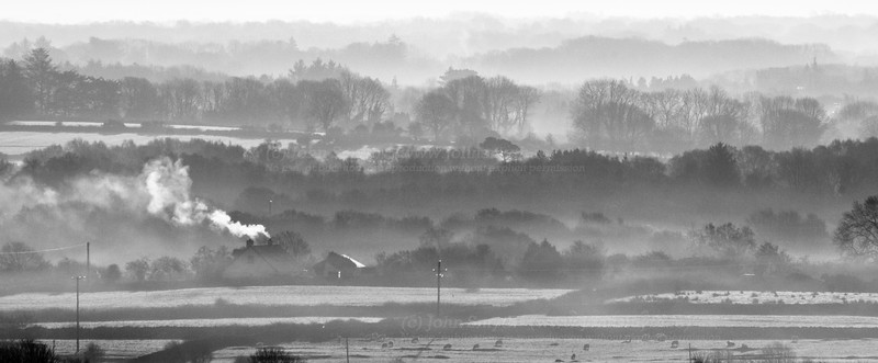 Galway countryside on a frosty morning close to Lough Corrib in February 2010.