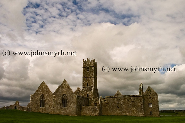 View of Ross Errily friary, near Headford, Co. Galway.