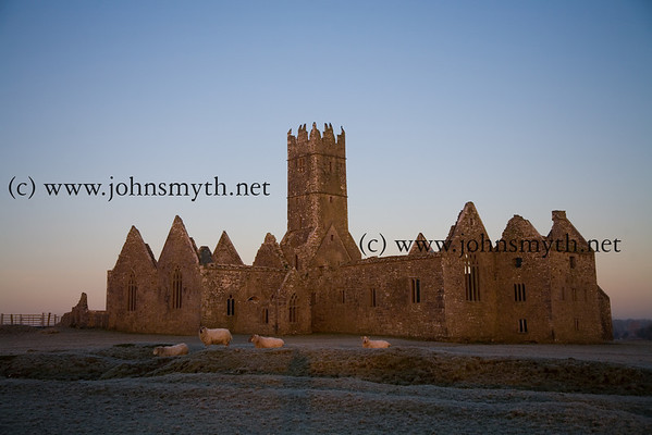 Ross Errily friary, near Headford, Co. Galway, at sunrise
