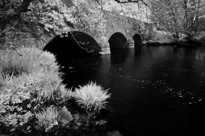 The bridge over the river that runs through Spiddal in west Galway