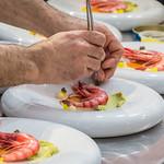The 2017 Concurso Internacional de Cocina Creativa de la Gamba Roja de Dénia (Red Prawn from Dénia International Creative Cooking Competition) at the  Mercado Municipal (municipal market) in Dénia, Alicante, Spain.