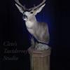 Barn wood pedestal Wyoming mule deer