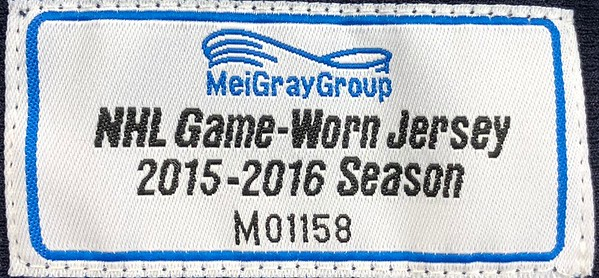Atkinson 2015-2016 Game Worn Jersey MeiGray Tag