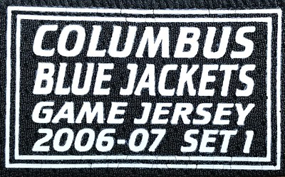 Shelly 2006-2007 Game Worn Jersey Set Tag