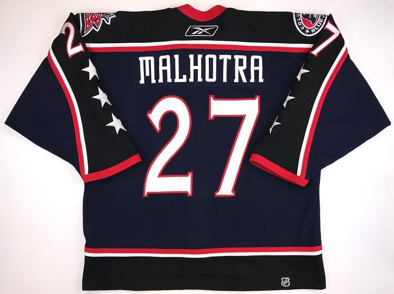 Malhotra 2006-2007 Game Worn 3rd Jersey Back
