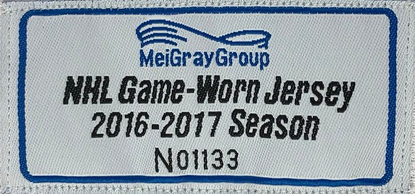McElhinney 2016-2017 Game Worn Jersey MeiGray Tag