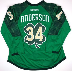 Anderson 2016-2017 Warm Up Worn St Partick's Jersey Back
