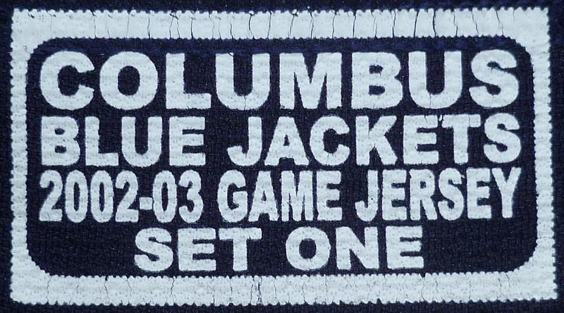 Specak 2002-2003 Game Worn Jersey Set Tag