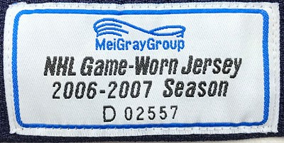 Modin Garth Brooks Game Worn 1 9 2007 MeiGray Tag
