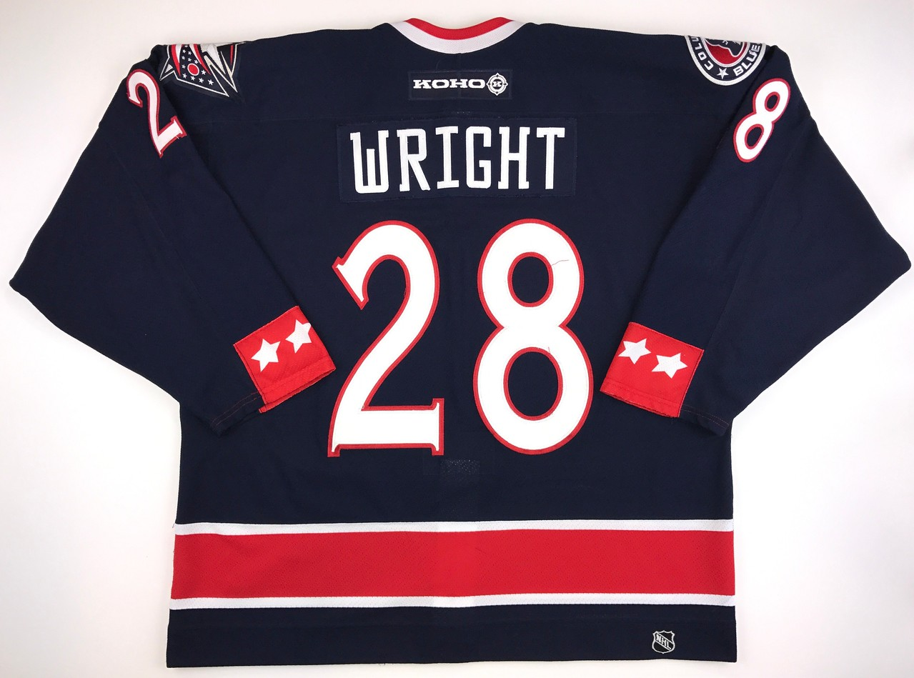 Wright 2003-2004 Game Worn Jersey Back