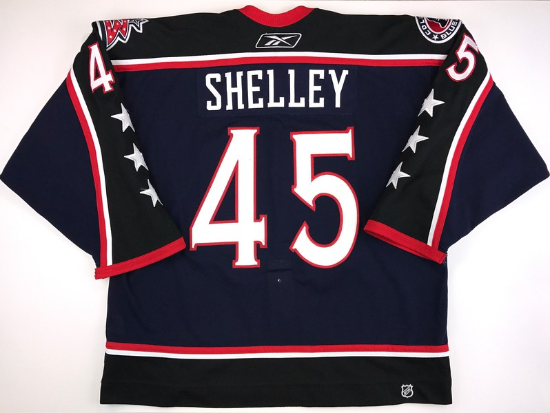 Shelly 2006-2007 Game Worn Jersey Back