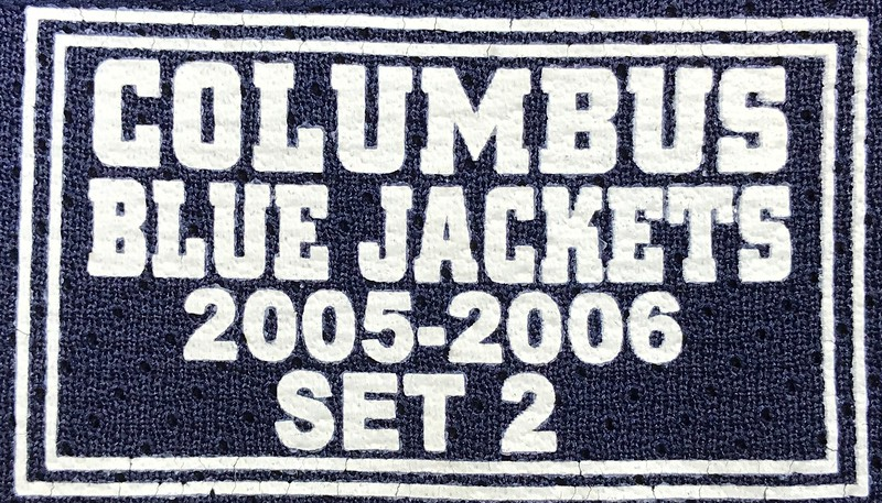 Denis 2005-2006 Game Worn Jersey Set Tag