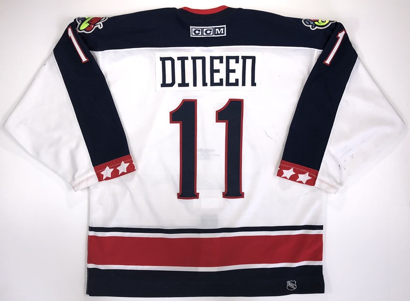 Dineen 2000-2001 Game Worn Jersey Back