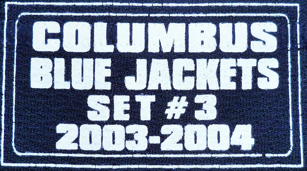 Cassels 2003-2004 Game Worn Jersey Set Tag