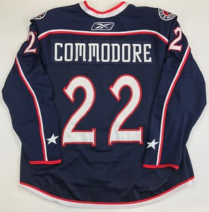 Commodore 2008-2009 Game Worn Jersey Back