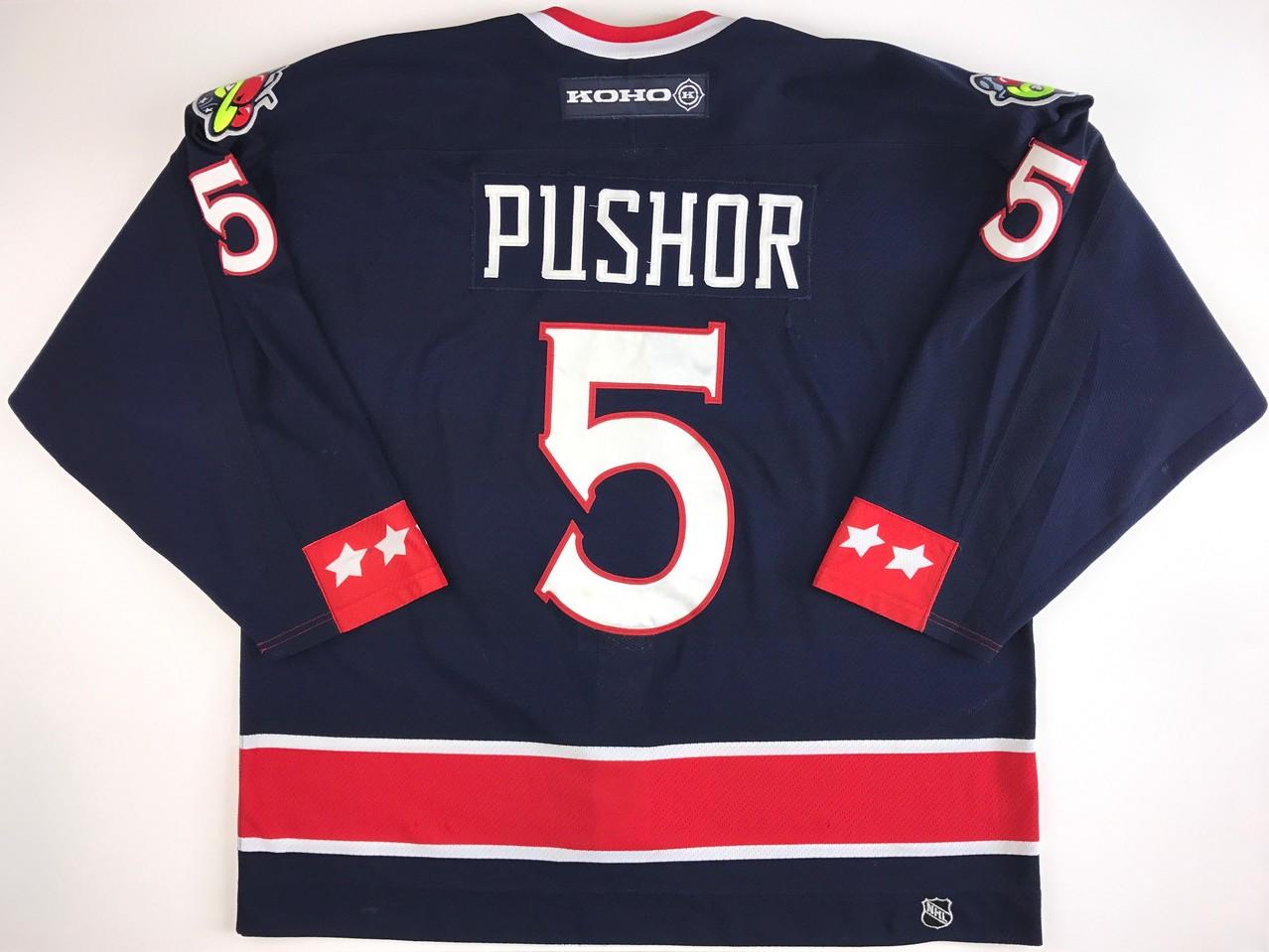 Pusher 2000-2001 Game Worn Jersey Back