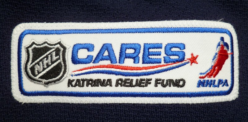 Zherdev 2005 Game Worn Katrina Relief Fund Jersey Patch