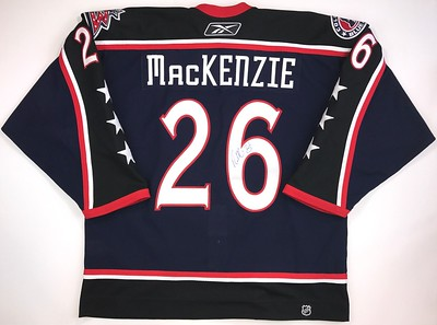 MacKenzie 2008 Preseason Game Issued Jersey Back