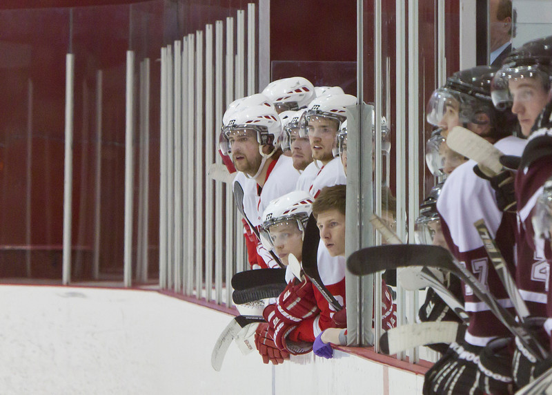 CALGARY(AB) February 24, 2012 - Trojans bench during 1st period action.