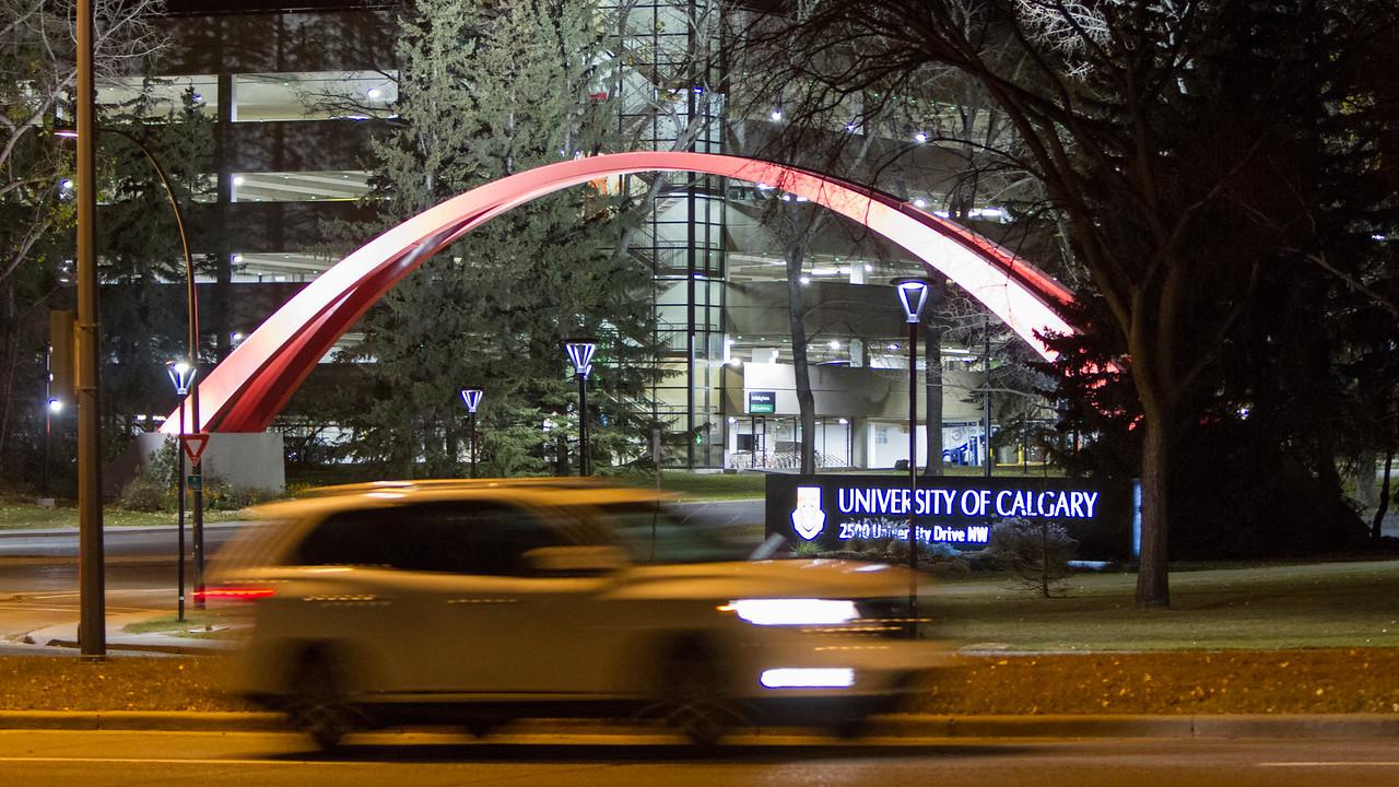 CALGARY(AB) October 30, 2015 - University of Calgary. Calgary, Alberta, Canada.