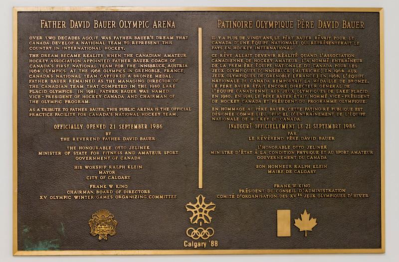 CALGARY(AB) October 30, 2015 - Father David Bauer Olympic Arena. Calgary, Alberta, Canada.