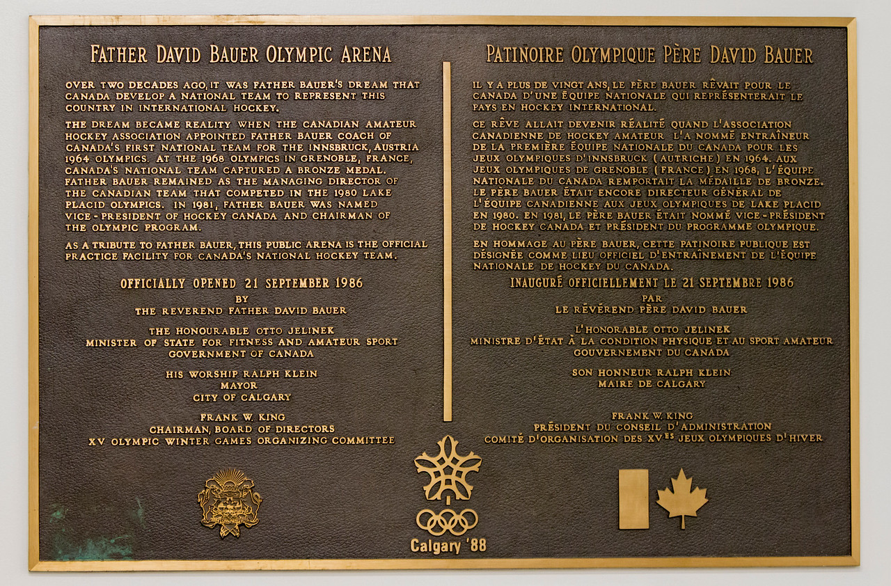 CALGARY(AB) October 30, 2015 - Father David Bauer Olympic Arena. Calgary, Alberta, Canada.