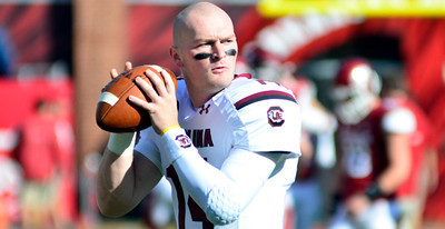Connor Shaw October 12, 2013 South Carolina Gamecocks 52, Arkansas Razorbacks 7 at Reynolds Razorback Stadium in Fayetteville, Ark.