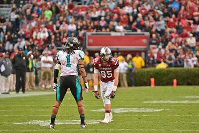 November 23, 2013 South Carolina Gamecock 70, Coastal Carolina Chanticleers 10 at Williams-Brice Stadium in Columbia, SC