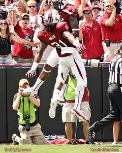 September 8, 2012 South Carolina Gamecocks 48, East Carolina Pirates 10 De'Angelo Smith Kenny Miles
