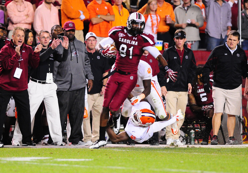 South Carolina Gamecocks 34, Clemson Tigers 13  Williams-Brice Stadium  November 26, 2011