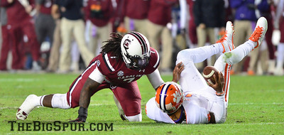 November 30, 2013 South Carolina Gamecocks 31, Clemson Tigers 17 at Williams-Brice Stadium in Columbia, S.C.