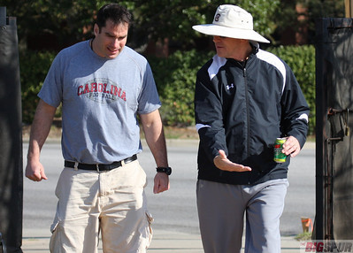 Strength Coach Craig Fitzgerald and Defensive coordinator Ellis Johnson