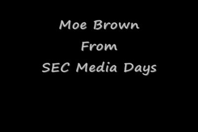 Moe Brown Media Days