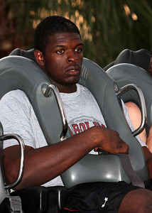 Clifton Geathers after his ride on Sheikra!