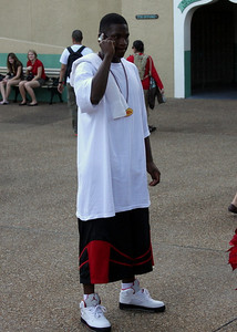 Kenny McKinley all dress up for a fun time