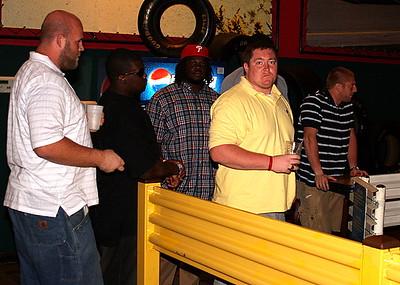 Justin Sorenson, Nate Pepper. Pierre Andrews Hardee Sanders and Brian Kingrey await their turn.