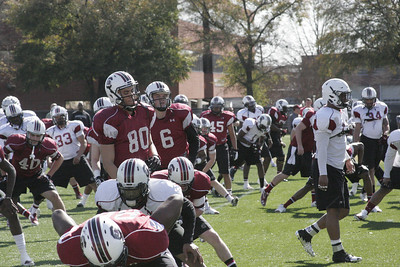 South Carolina Gamecocks Spring Practice 3 at Palmetto Proving Grounds in Columbia, SC